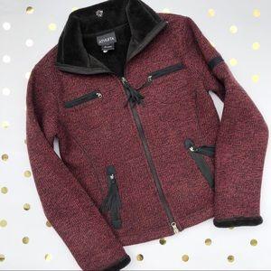 Athleta | Red Fur Lined Jacket